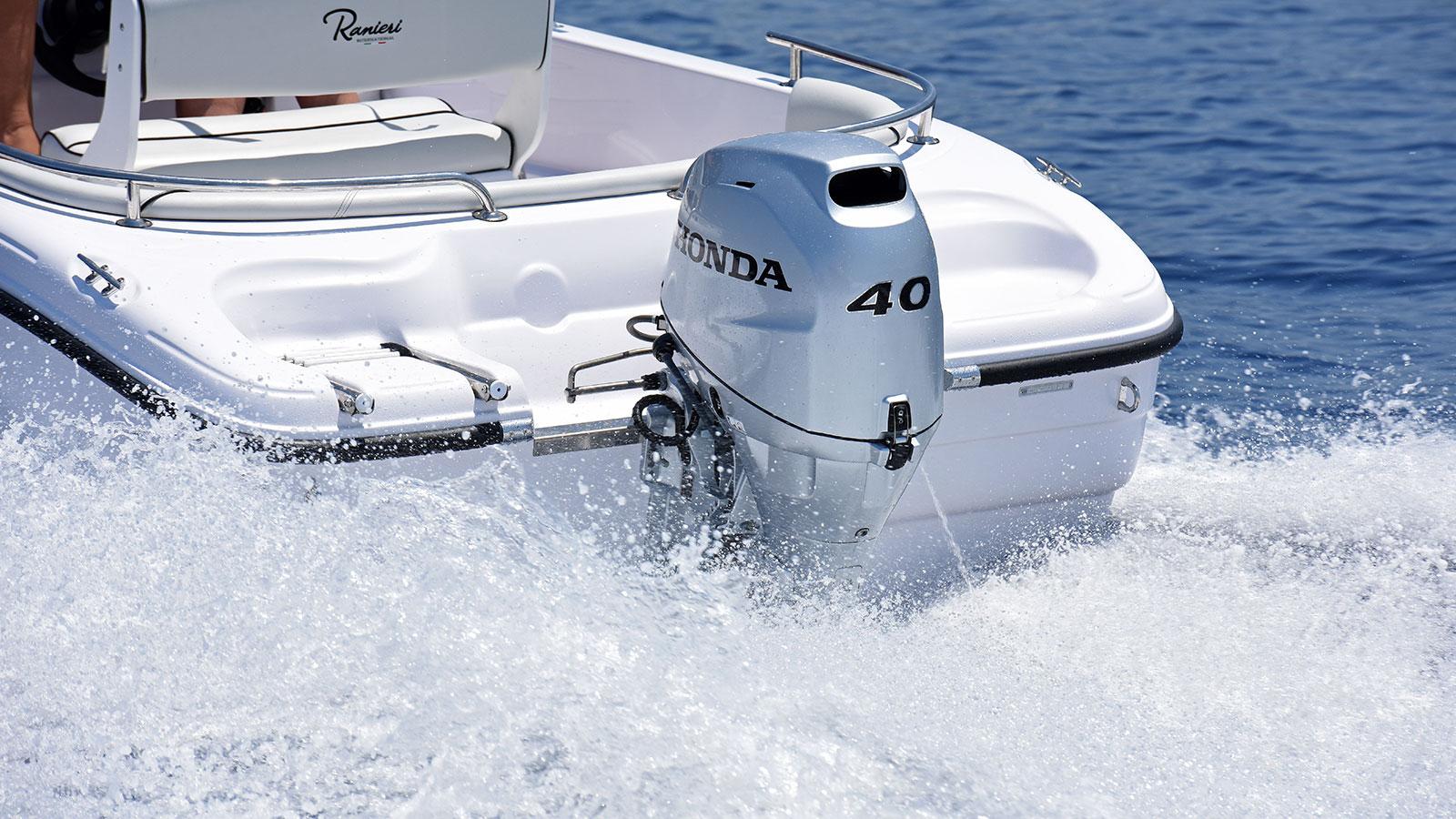 łódź zsilnikiem zaburtowym Honda 40 KM